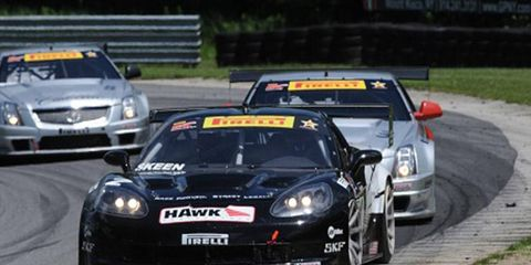 Mike Skeen picked up a win in the Pirelli World Challenge on Friday at Lime Rock Park.