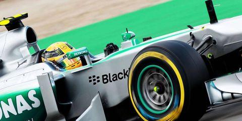 Lewis Hamilton won the pole Saturday for the German Grand Prix.