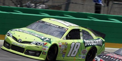 Kyle Busch, shown last week in Kentucky, took the pole for this weekend's Sprint Cup race in Daytona.