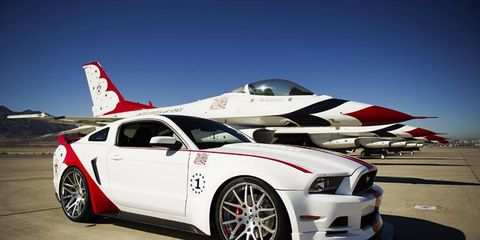 One of a kind Ford Mustang GT U.S. Air Force Thunderbirds