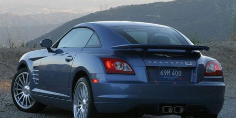 The Chrysler Crossfire was among the cars in our fleet back in 2003