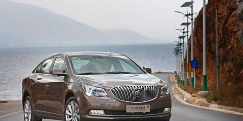 2014 Buick LaCrosse by Shanghai GM joins impressive lineup
