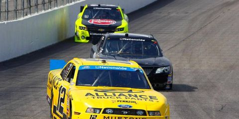 Sam Hornish Jr. heads to Chicagoland second in the NASCAR Nationwide Series points.