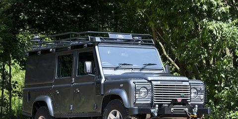 The Land Rover 110 was used as a platform for this custom conversion.