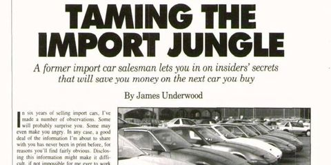 James Underwood takes us through some key tips to avoid getting scammed at dealers