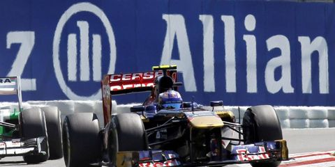 Daniel Ricciardo, pictured racing for Toro Rosso, will get a chance to test with Red Bull at Silverstone.