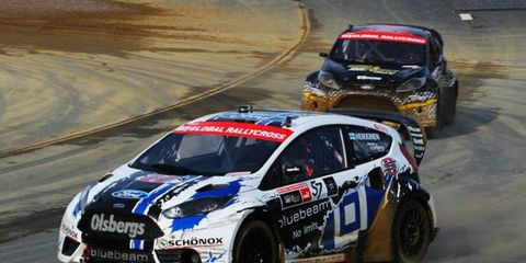 Toomas Heikkinen won the Global Rallycross event in New Hampshire on Thursday.