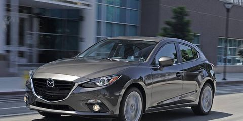 The 2014 Mazda3 goes on sale in September of this year.