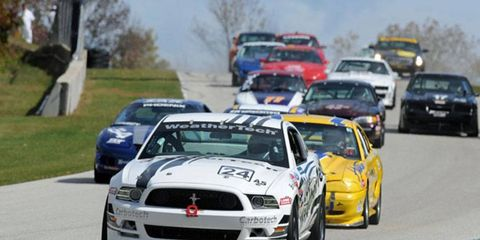 The SCAA runoffs, shown here at Road America a year ago, last raced west of the Rockies in 1968 at Riverside, Calif.
