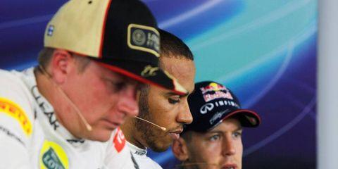 Kimi Räikkönen, Lewis Hamilton and Sebastian Vettel talk about the F1 Hungarian Grand Prix on Sunday in Budapest.