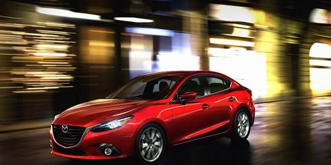 The 2014 Mazda 3 goes on sale in September.