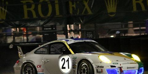 Rubens Barrichello, shown racing in the 2013 Rolex 24, will be back behind the wheel of a Grand-Am car in Indianapolis.