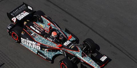 Ryan Briscoe, shown racing in Toronto, fractured his wrist during the race. He recently underwent successful surgery.