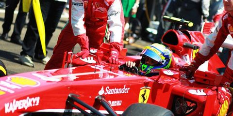 Felipe Massa finished eighth in Hungary after suffering a damaged wing in an opening-lap collision.