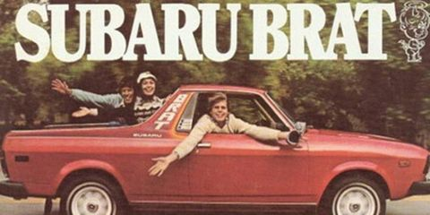 The Subaru BRAT was inspired by the Ford Ranchero and the Chevrolet El Camino