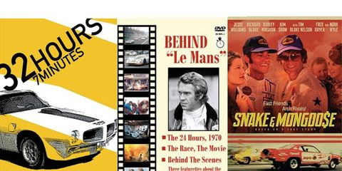 Documentaries and features every racing fan will love are going to be shown, including Snake and Mongoose.