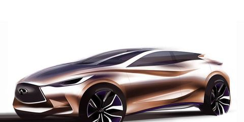 The Q30 compact luxury car will be shown in concept form at the Frankfurt motor show this September.