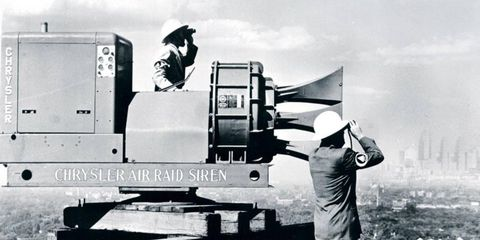 The Chrysler Air Raid siren remains the loudest outdoor warning device ever mass-produced -- all thanks Hemi V8 power.