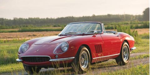 1967 Ferrari 275 GTB/4*S NART Spider by Scaglietti brought $27.5 million, selling to an undisclosed bidder in the room at RM.