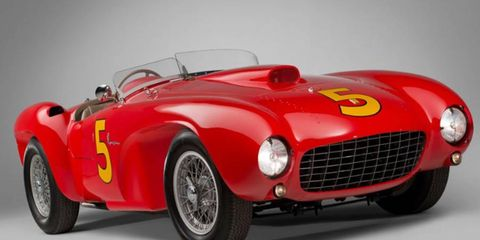 This 1953 Ferrari 375 MM Spider sold for $9,075,000 at RM.