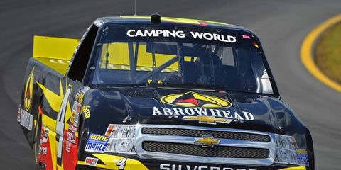 Jeb Burton took the pole on Saturday morning for this weekend's Camping World Truck Series race.