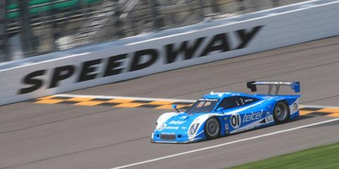 Memo Rojas, sharing a car with Scott Pruett, won the pole in the DP class on Friday in Kansas.
