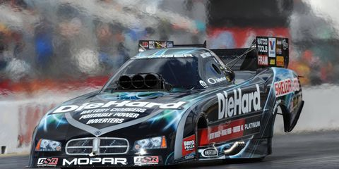 Matt Hagan was the top qualifier in Funny Cars on Friday in Sonoma.