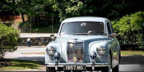 Dozens of MGs traveled to the museum, including rare saloon cars.