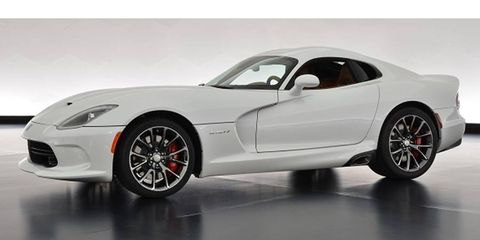 The Sons of Italy SRT Viper GTS will be auctioned for charity.