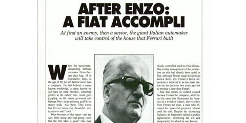 Enzo was, and is, impossible to replace, but Ferrari lives on.