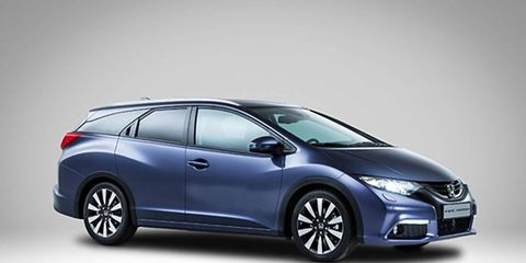The Honda Civic Tourer will join other compact cars remade into tall wagons when it's shown at the Frankfurt auto show.