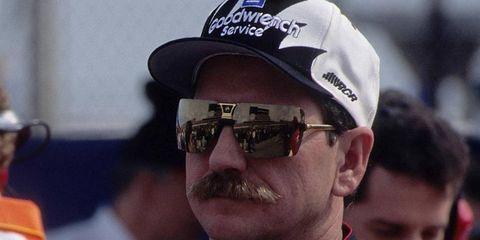 Dale Earhardt was always intimidating behind the wheel, but he was also intimidating behind the microphone...