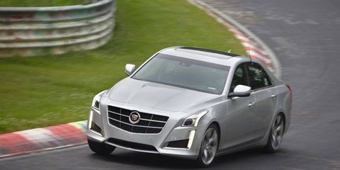 The 2014 Cadillac CTS Vsport took its first laps around the Nurburgring.