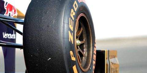 Pirelli has a contract to be the tire supplier for Formula One in 2014.