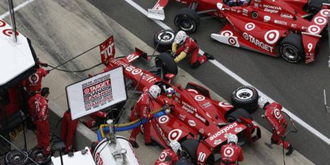 Expect to see more pit lines at IndyCar races after the incident with Scott Dixon, pictured, that transpired at Sonoma Raceway