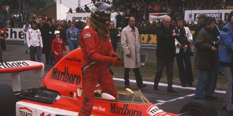 James Hunt's McLaren was typically fast at the Austrian Grand Prix, but he finished in only fourth place.