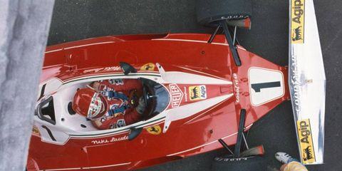 A rare top-down view of Lauda's preparations for the Swedish Grand Prix. He would go on to finish third in the race.