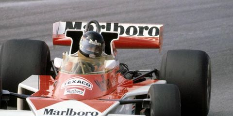With Lauda out of the picture, Hunt took full advantage of his opportunity at the Graham Hill International Trophy.