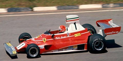 Niki Lauda edged out Patrick DePailler to win his first race of 1976 at the Brazilian Grand Prix.