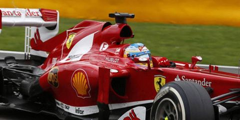 Sebastian Vettel has a firm lead in the Formula One standings, but Fernando Alonso, pictured, can still win the title.