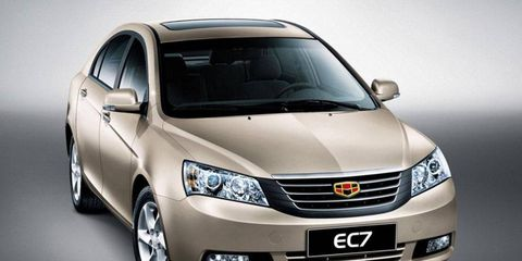 The Geely Emgrand is the company's mid-size sedan.