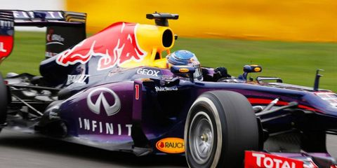 Sebastian Vettel made a pass for the lead on the first lap and was never really challenged on Sunday in Belgium.
