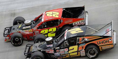 Mike Stefanik (22) won at Bristol for the first time on Aug. 21. He's a seven-time series champion in the NASCAR Whelen Modified Series.