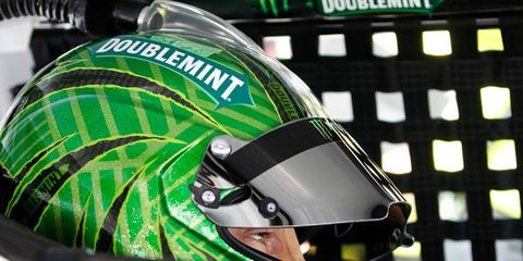 Kyle Busch is going for the triple from Bristol after winning the the NASCAR Truck Series and Nationwide Series races.