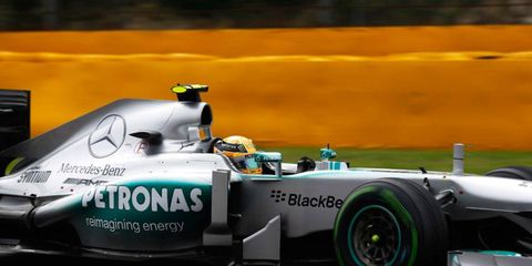 Lewis Hamilton won his fourth consecutive Formula One pole on Saturday. The series record is eight straight, held by Ayrton Senna (1988-89).