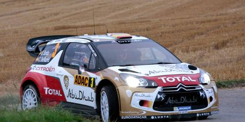 Dani Sordo leads Rally Germany after Saturday's stages.