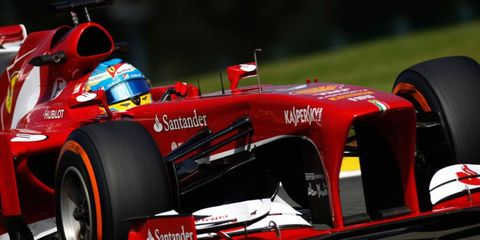 Fernando Alonso will have his work cut out for him on Sunday at Spa, as he starts ninth on the grid.