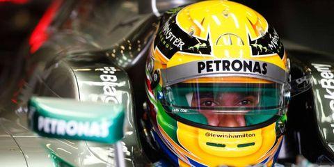 Lewis Hamilton won his fourth straight pole of the Formula One season on Saturday in Belgium.