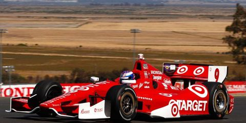 IndyCar Series championship hopeful Scott Dixon posted a quick lap of 1 minute, 18.6814 seconds at Sonoma on Friday.