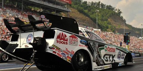 Castrol has sponsored John Force for 29 years. It will be ending the relationship at the end of the 2014 NHRA season.